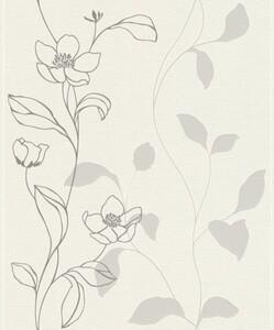 Rasch Vliestapete Hot Spot ,  Blume grau