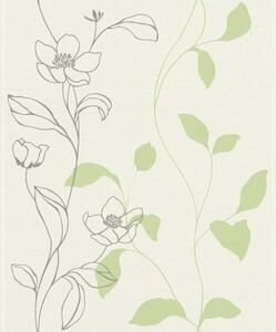 Rasch Vliestapete Hot Spot ,  Blume grün
