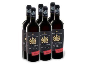 6 x 0,75-l-Flasche Weinpaket Montecore Primitivo Puglia IGP, Rotwein