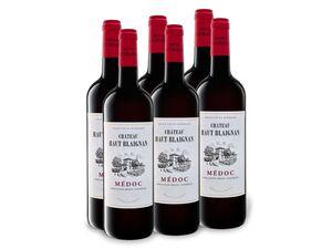 6 x 0,75-l-Flasche Weinpaket Château Haut Blaignan Médoc AOP trocken, Rotwein