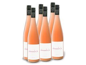 6 x 0,75-l-Flasche Weinpaket Markgräfler Winzer Rosé QbA, Edition MRKGRFLR, Roséwein