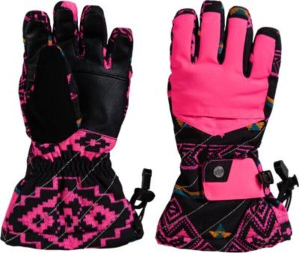 Skihandschuhe SYNTHESIS Mädchen schwarz/pink Gr. 7,5  Kinder