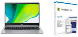 "Aspire 5 (A515-54-P1VY) 39,62 cm (15,6"") Notebook silber inkl. 365 Family FPP"