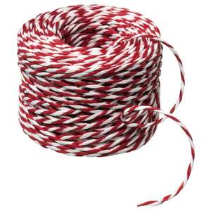 VINTER 2020 Geschenkband, weiß/rot