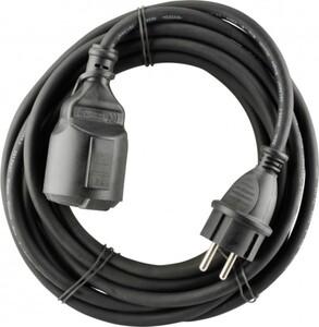 UNITEC Gummi-Verlängerung H05RR-F3G1,5mm², 5m, schwarz