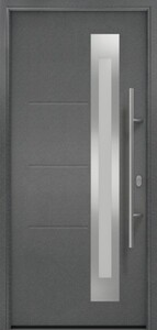 Hörmann Haustür ISOPRO Secur 1100 x 2100 mm. DIN links, Anthrazit Metallic CH 703