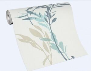 Erismann Vliestapete Floral blau, 10,05 x 0,53 m