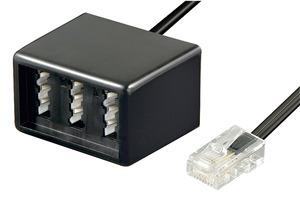 GOOBAY 68025 Adapter, 20 cm, Schwarz