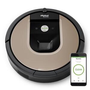 iRobot Roomba 966 Saugroboter (Lithium-Ionen-Akku, 75 Min. Laufzeit, 0,6 Liter Behältervolumen, App, Staubsaugerroboter)