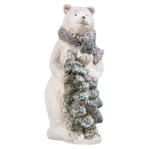 Powertec Garden Dekofigur - Eisbär stehend mit Tannenbaum