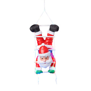 I-Glow XL-LED-Weihnachtsmann - Kopfüber