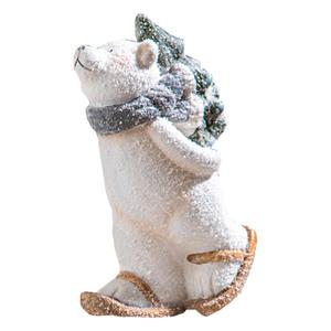 Powertec Garden Dekofigur - Eisbär mit Schlittschuhen