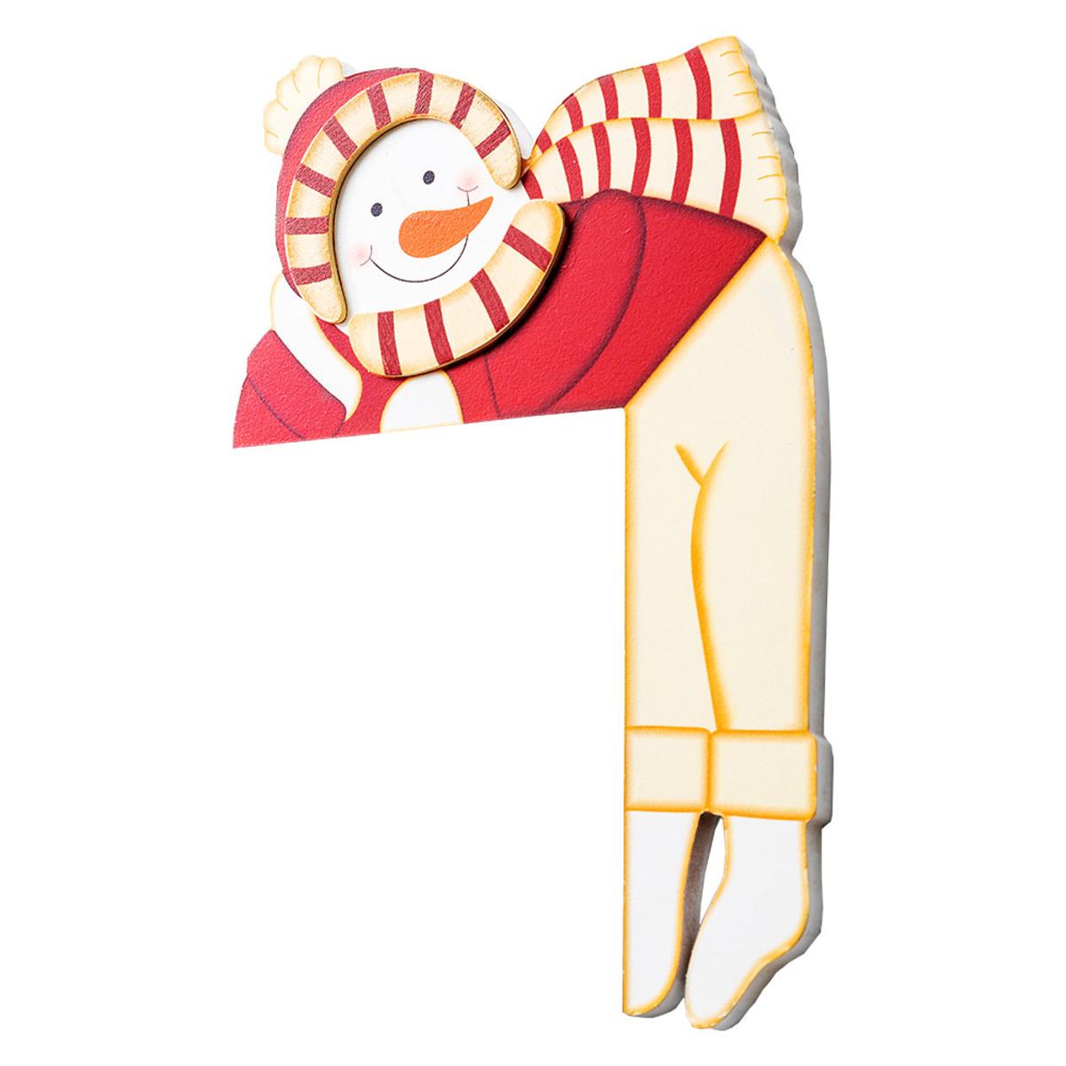 Bild 1 von Bella Casa Türrahmen-Deko aus Holz - Schneemann mit Mütze