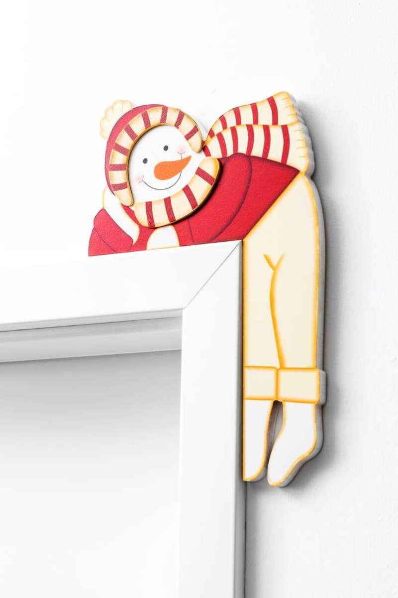 Bild 2 von Bella Casa Türrahmen-Deko aus Holz - Schneemann mit Mütze