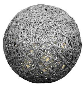 I-Glow Design-LED-Kugel - Silber