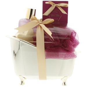 Geschenkset in Mini-Badewanne Vanille