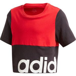 adidas T-Shirt, Rundhals, verkürzt, zweifarbig, für Mädchen