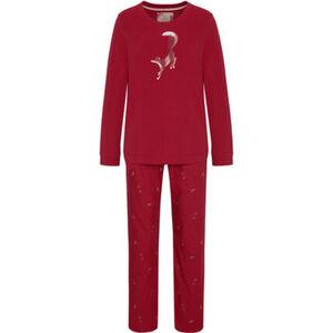 Triumph Pyjama, 1/1, Langarm, Fuchs-Patch, gemustert, für Damen
