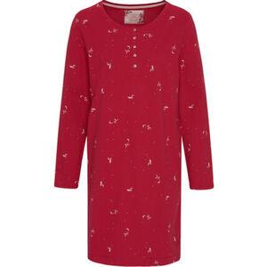 Triumph Nachthemd, Langarm, Knopfleiste, Fuchs-Muster, für Damen