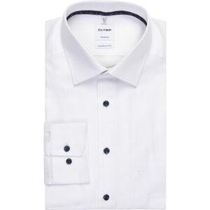 Olymp Tendenz Businesshemd, Modern Fit, Kent, uni, bügelleicht, für Herren
