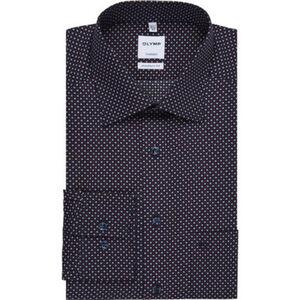 Olymp Tendenz Businesshemd, Modern Fit, Kent, gemustert, bügelleicht, für Herren