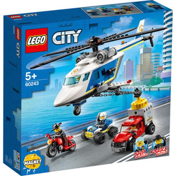 LEGO® City - Bundle 60243 Verfolgungsjagd mit dem Polizeihubschrauber + 60244 Polizeihubschrauber-Transport