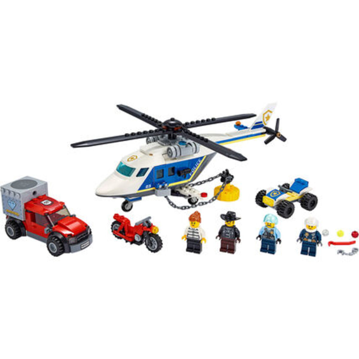 Bild 3 von LEGO® City - Bundle 60243 Verfolgungsjagd mit dem Polizeihubschrauber + 60244 Polizeihubschrauber-Transport