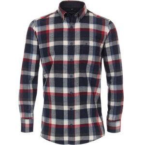 Casa Moda Freizeithemd, Comfort Fit, Kariert, Button-Down-Kragen, Brusttasche, für Herren