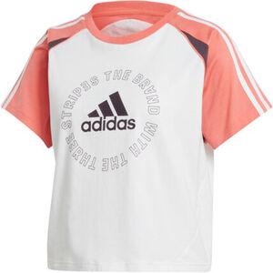 adidas T-Shirt, Logomotiv, sportlich, für Damen