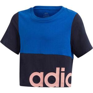 adidas T-Shirt, Rundhals, kurz geschnitten, zweifarbig, für Mädchen