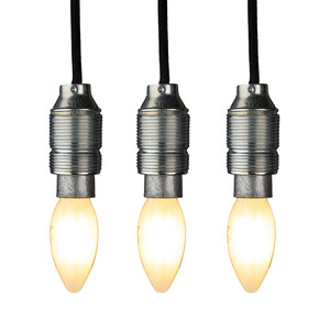 Osram Filament-LED-Leuchtmittel, Kerze E14 matt - 3er-Set