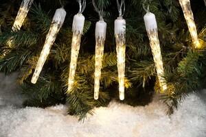 I-Glow LED-Eiszapfen-Lichterkette, 40er - Warmweiß