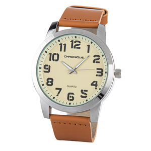 Chronique Herren Armbanduhr, Ø ca. 49 mm - Beige