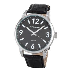 Chronique Herren Armbanduhr, Ø ca. 48 mm - Schwarz