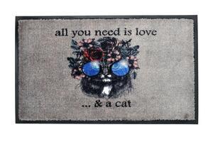 acerto Premium Fußmatte Schmutzfangmatte HIPPY CAT 45x75cm