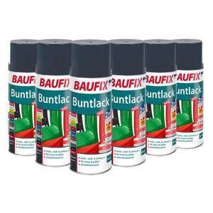 BAUFIX Buntlack-Spray, 6er-Set - Anthrazit