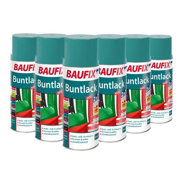 BAUFIX Buntlack-Spray, 6er-Set - Petrol