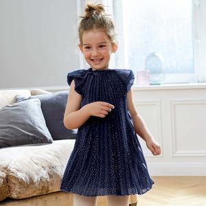 Kinder-Mädchen-Kleid mit Glitzersternen