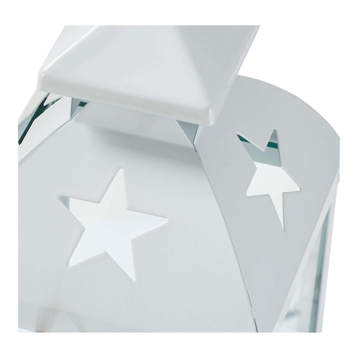 Bild 3 von Laterne mit Sternausschnitten, ca. 11x11x23cm