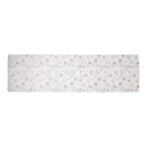 Jacquard-Tischläufer mit Schneekristallmuster