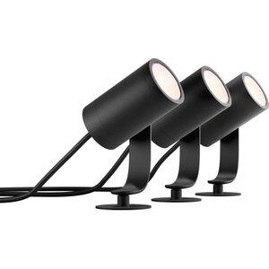 Philips Hue LED-Spot 3er Basis-Set Lily Schwarz EEK: A+