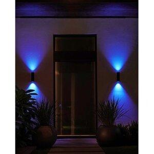 Philips Hue LED-Außenwandleuchte Appear Schwarz EEK: A+