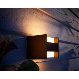 Philips Hue White Fuzo LED-Wandleuchte quadratisch EEK: A