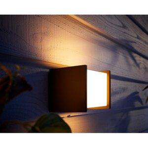 Philips Hue White Fuzo LED-Wandleuchte quadratisch Block EEK: A