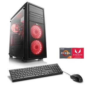 CSL Sprint T8390 Windows 10 Home Gaming-PC (AMD Ryzen 3, Radeon Vega 8, 8 GB RAM, 1000 GB HDD, 240 GB SSD)