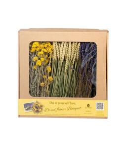 DIY Box Trockenblumenstrauß, gelb