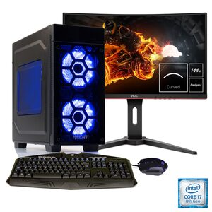 Hyrican Gaming PC i7-8086K, RTX 2060, 32GB RAM + 69 cm (27) TFT »Striker Anniversary SET1848«