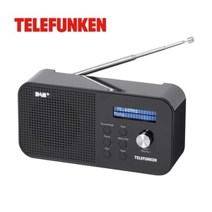 Portables DAB+-Radio RD1003 · LCD-Display · PLL-FM-Radio · Aux-Anschluss · Netz- oder Batteriebetrieb  *Logo: DAB_Plus_2017