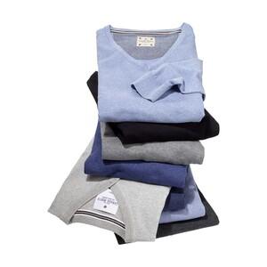 Herren-Pullover mit Elasthan,  versch. Farben, Größe: S - XXL, je