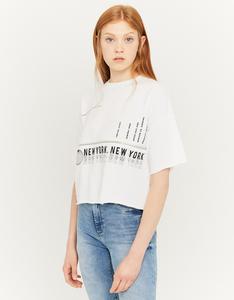 Weißes Sweatshirt mit Aufschrift